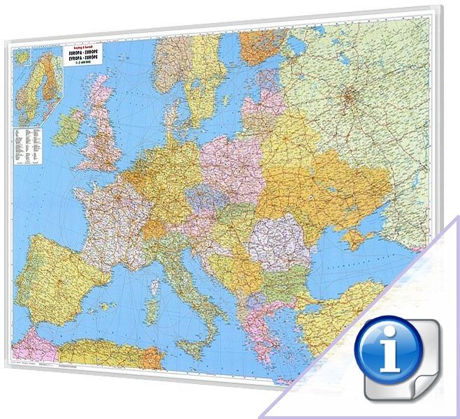 Tablica Mapa Magnetyczna Europy Polityczno Drogowa 1 2 6 Mln