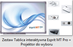 Zestaw Tablica interaktywna Esprit MT Pro plus Projektor do wyboru